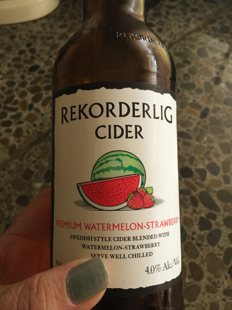 Watermelon and strawberry cider